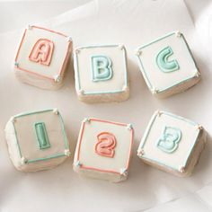 Baby shower themed cupcake recipes!  They've got some very cute things here!