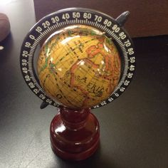 It's a 2 1/2 inch globe on a pencil sharpener stand! Oooh! Multi-functional!