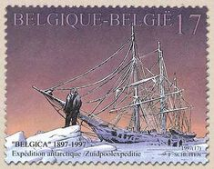 belgian stamps Southpole expedition with the 'Belgica'.