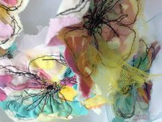 Stitched flowers by SCAD fibers alum Alison Curran