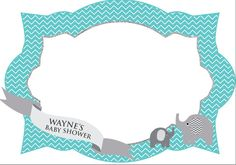 Photo Frame - Photo booth prop - Baby shower - printable frame - for babies - boys - girls