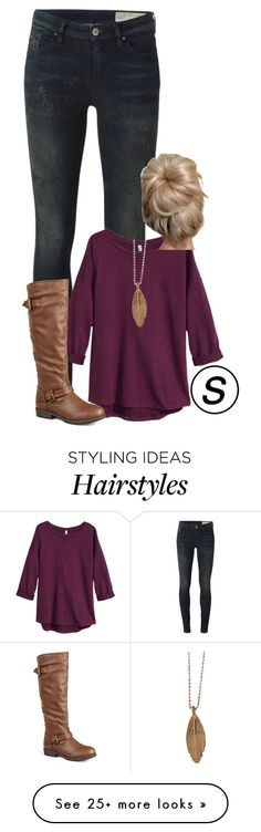"""""""it's almost boots time!"""" by shannaolo on Polyvore featuring Mode, Diesel, H&M, Journee Collection, Aurum By Gudbjorg, Myfavsets2O15s und shannawouldwearthis"""