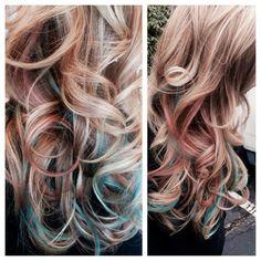 Pravana, mermaid hair, blonde, salon bogar, tracy dion