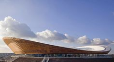 The London 2012 Olympic Velodrome.