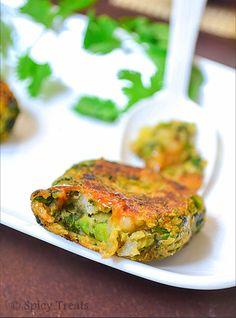 Spinach Peas Potato Patties