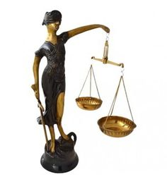 Justice Lady Made In Brass