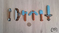 Hand Made Minecraft Tool Set Fridge Magnets | Free UK Delivery (4.99 GBP) by ChillPadUK