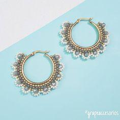Seed Bead Earrings, Copper Earrings, Bridal Earrings, Beaded Earrings, Bead Jewellery, Diy Jewelry, Beaded Jewelry, Handmade Jewelry, Jewelry Making