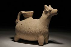 C Old Pottery, Iron Age, Animal Heads, Piggy Bank, Mystic, Cow, Sculpture, View Source, Antiques