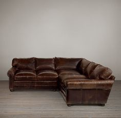have this in chestnut...like the leather you you showed me...this sofa has many leather options and is more of the worn look...build your own to add chaise...Lancaster Leather Build Your Own Sectional