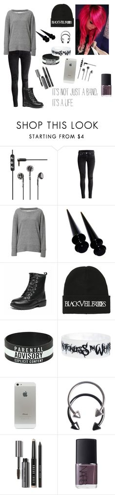 """""""Untitled #784"""" by emilne-1 ❤ liked on Polyvore featuring Frends, H&M, Current/Elliott, Pieces, Bobbi Brown Cosmetics and NARS Cosmetics"""