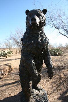 Safari trail in Rancho Sahuarita Arizona, Public Art, Tucson, Safari, Trail, Lion Sculpture, Scene, Statue, Animals