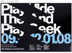 Play The Play/Hide And Seek, Labor Gras, Dance Company Poster / Neubau Berlin