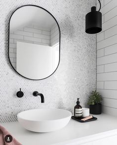 Designstuff offers a range of contemporary home decor including this beautiful Bjorn Oval Mirror by Middle of Nowhere. Shop now! Bathroom Renos, Laundry In Bathroom, Bathroom Interior, Small Bathroom, Hotel Bathroom Design, Bathroom Taps, White Bathroom, Master Bathroom, Bad Inspiration