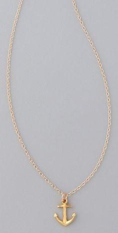 Gorjana Anchor Necklace - StyleSays