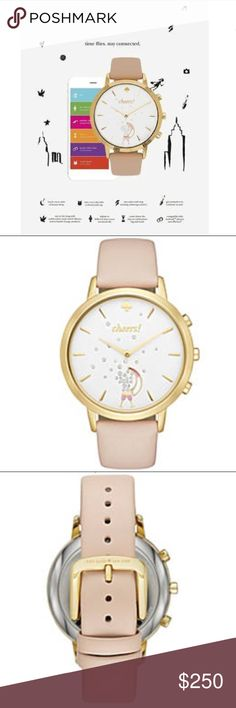 Kate Spade Smart Hybrid Gold Watch Peach New w/Box Kate Spade Smart Hybrid Gold Watch Peach New w/Box Stay connected without sacrificing style in kate spade new york's celebration-worthy smart watch. It functions as a fashionable timepiece that links to your smartphone, pushing alerts and serving as an activity tracker, so you can monitor your chic lifestyle. Cheers to that! kate spade Accessories Watches