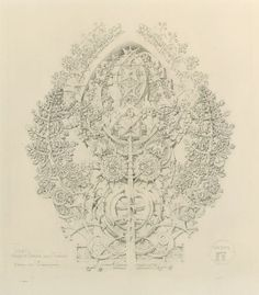 Louis H. Sullivan, System of Architectural Ornament, Plate 12, Values of Overlap and Overlay, A Study in Virtuosity, 1922-23