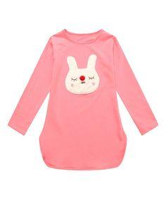 Loving this Pink Bunny Tee - Toddler & Girls on #zulily! #zulilyfinds