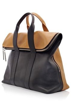 '31 Hour' Bag Caramel & Black Leather Bag, by Phillip Lim