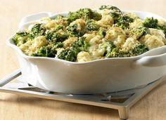 Receita de gratinado de brócolis e couve-flor