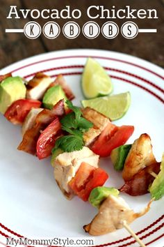 Totally need to make this for dinner tonight. We love all natural recipes that the whole family will eat and I think these Avocado Chicken Kabobs will be a perfect fit for an easy and healthy dinner.