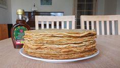 Homemade European style pancakes no eggs needed!