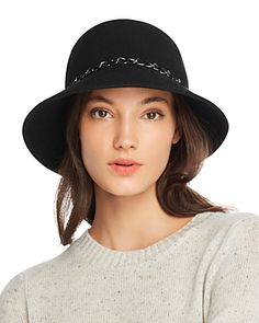 bd7dc53e599 August Hat Company Feelin It Chain-Trim Wool Cloche Jewelry   Accessories -  Hats - Bloomingdale s