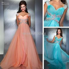 Wholesale Sexy Christmas Prom dresses Off the shoulder EMpire Full length Chiffon fabric Beads Applique Long, Free shipping, $125.35-149.5/Piece | DHgate