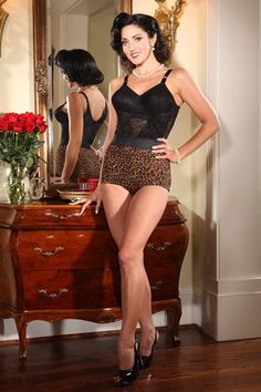 Secrets In Lace Leopard Lite Pinup Panty. Exclusively for Secrets In Lace by Rago