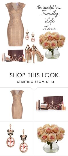 """""""Everything."""" by carpediem29 ❤ liked on Polyvore featuring Hervé Léger, Charlotte Tilbury, Effy Jewelry and imthankfulfor"""