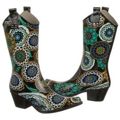 Nomad Yippy Boots (Black/Blue Pinwheel) - Women's Boots - 8.0 M