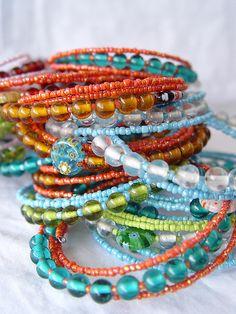 Bracelets by a little bit of just because, via Flickr