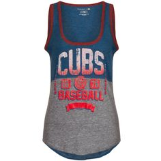 bc772e41f62d0d Chicago Cubs Women s Two-Tone Glitter Tank Top