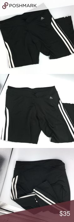 Adidas Response Sport Workout Leggings Pants In great condition, worn twice. Has a pocket in the inside back for small items such as chapstick, ID or keys. Not see through and very comfortable.  Size S.  Could fit those that wear a size medium as well due to the stretchy material and waistband.  Willing to negotiate. No trades please. adidas Pants Track Pants & Joggers