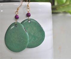 A personal favorite from my Etsy shop https://www.etsy.com/listing/248180119/tagua-earrings-jungle-earrings-seed
