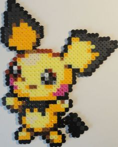 PICHU POKEMON BEAD SPRITE NINTENDO GAME PERLER ART