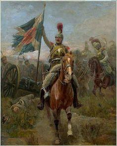 Caballero francés arrebata bandera prusiana