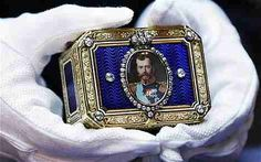 Tsars Of Russia Faberge Eggs | Faberge snuff box is with the portrait of Russia's last emperor Tsar ...