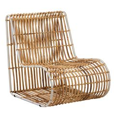 This Comfortable Ergonomic Rattan Lounge Chair Brings A Natural Vibe To Any  Home. The Iron Frame Is Pearl White Color, Letting The Natural Fiber Be The  Main ...