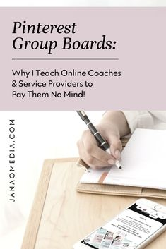 Pinterest Marketing for Coaches: Using Pinterest group boards for marketing your coaching offers? It's an outdated Pinterest marketing strategy. There. I said it. Sorry Not Sorry. Here's why if you're an online coach or service provider I suggest you don't do Pinterest group boards… About Pinterest marketing for beginners,  marketing for coaching business, Pinterest marketing tutorials