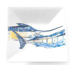 Tandem Blue Marlin Square Dish