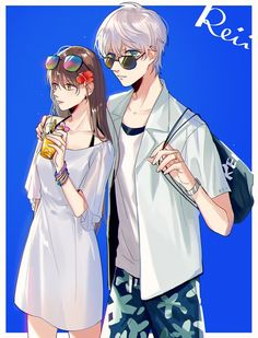 """""""haha on the island!(and why is saeran still wearing a white shirt in the normal ending cg ahhh😂😂)"""" Mystic Messenger Unknown, Mystic Messenger Game, Mystic Messenger Fanart, Mystic Messenger Characters, Messenger Games, Anime Amor, Manga Anime, Jumin X Mc, Saeran Choi"""