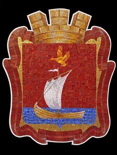 Мозаичный герб города Кандалакша