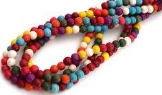 Lot de 10 Perles de pierres Howlite Turquoise ronde mixte 6 mm PP2016008 : Perles pierres Fines, Minérales par creatist