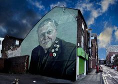 I pass this wall every day on the way to university - makes me smile Rocket01 - Sheffield Uk by jimbob311255, via Flickr Sheffield Hallam, Sources Of Iron, I Passed, Derbyshire, Make Me Smile, Rome, Graffiti, Street Art, Explore