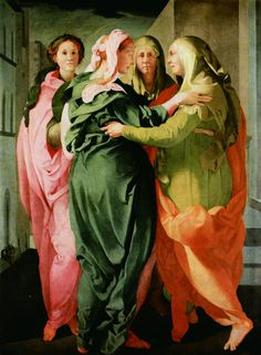 Pontormo's Visitation (Carmignano) currently at Palazzo Strozzi for the Bill Viola show