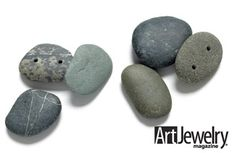 Drilling Techniques: River Rocks.  Find more projects on ArtJewelryMag.com
