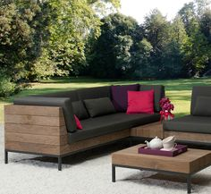 Gartensofa LONG ISLAND - APPLEBEE - moderner Garten Outdoor Sectional, Sectional Sofa, Long Island, Outdoor Furniture, Outdoor Decor, Home Decor, Modern Gardens, Garden Parties, Modular Couch