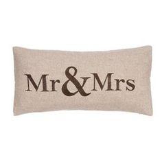 Verona ''Mr & Mrs'' Throw Pillow $79.99