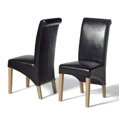 Why Brown Dining Chairs are the Best for You : Brown Leather Dining Chairs With Oak Legs. Brown leather dining chairs with oak legs. Oak Furniture House, Dining Furniture Sets, Modern Dining Chairs, Leather Furniture, Kitchen Chairs, Dining Chair Set, Modern Furniture, Italian Furniture, Quality Furniture